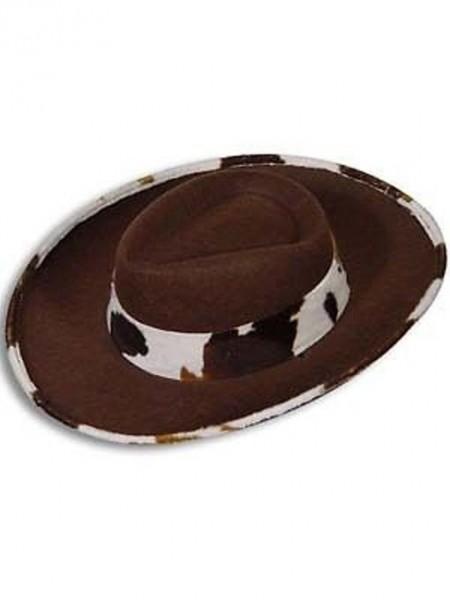 Cowboyhut Western braun mit kleinem Fellrand