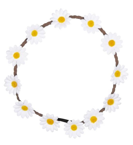 Blumenhaarband weiße Blüten
