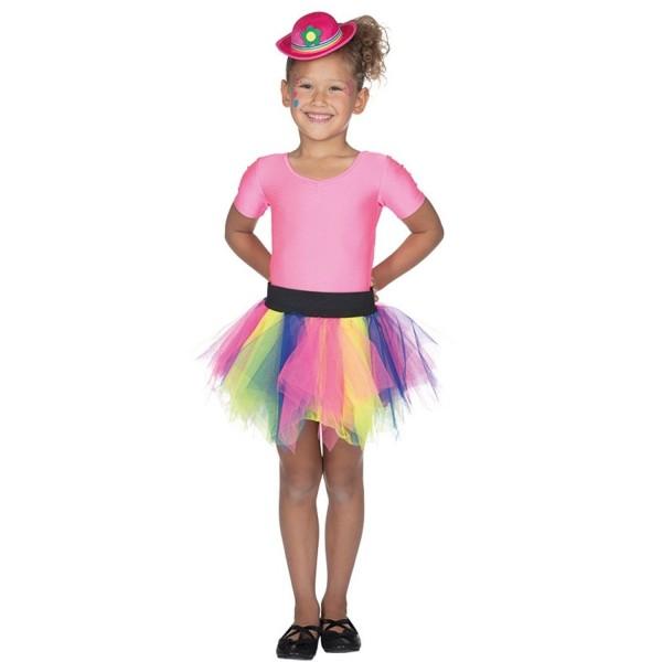 Tüllrock Kinder bunt Tutu Rock Regenbogen