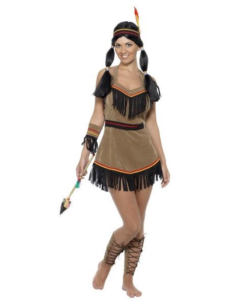 Indianerin Kostüm 5-tlg. Native American Inspired Woman