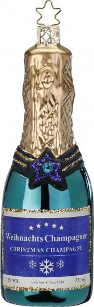 Christbaumschmuck Champagne blaugrün 12.5cm