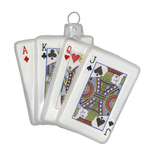 Christbaumschmuck Spielkarten