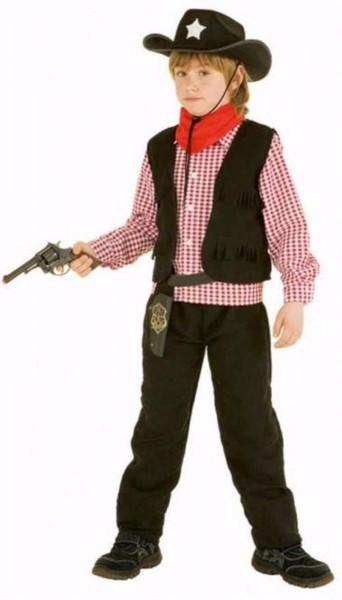Cowboy schwarz 3-tlg Kostüm Kinder