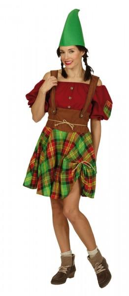 Zwergin Kleid mit Gürtel und Mütze