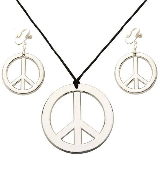 Peacekette mit Ohrringen silber