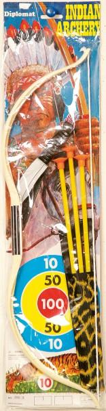 Indianer Set mit Pfeil Bogen und Messer
