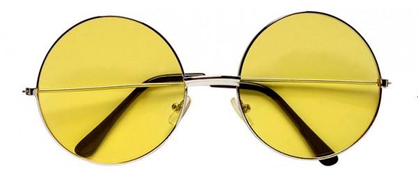 Brille Nickel groß gelb