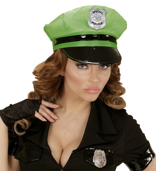 Polizei Mütze neon grün