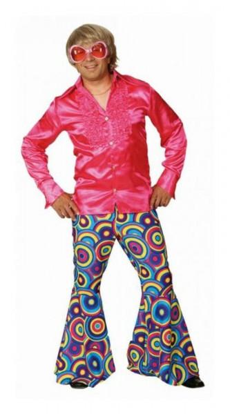 Schlaghose Herren Crazy blau Gr.44-58 Schlager Hippie Hose Anzug Party Fasching