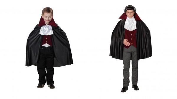 Dracula Kinder und Erwachsene Kostüm 3-tlg.
