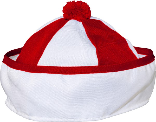 Matrosenmütze rot weiß
