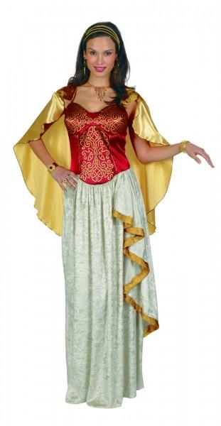 Kleid mit angenähtem Cape Römerin Antike