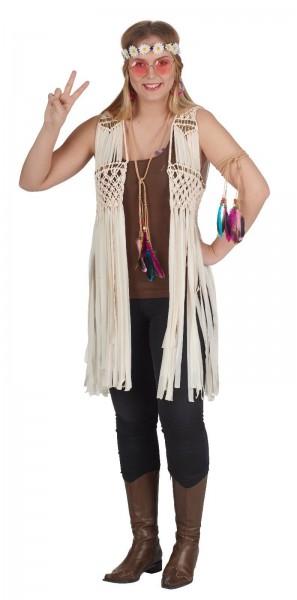Hippie Weste mit Perlen