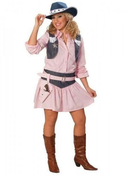 Cowgirl rosa 2-tlg. Set Damen