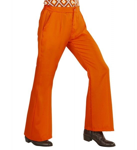 Schlaghose Herren Groovy 70s orange