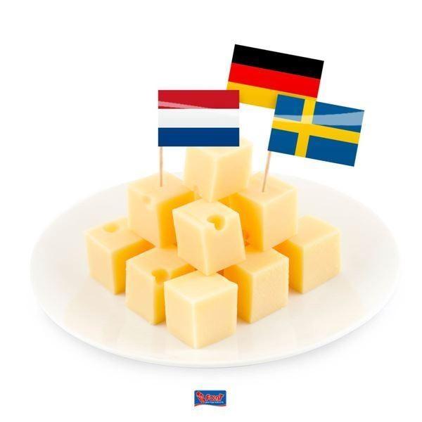 Dekopicker Europaflaggen 144stk