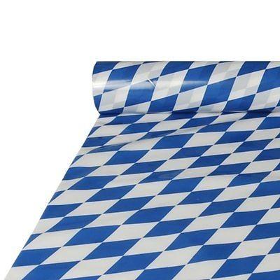Tischdecke Folie 20 m x 1 m bayrisch blau