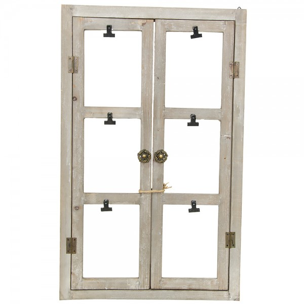 Deko Fenster Holz Fotoklammern 48x78cm