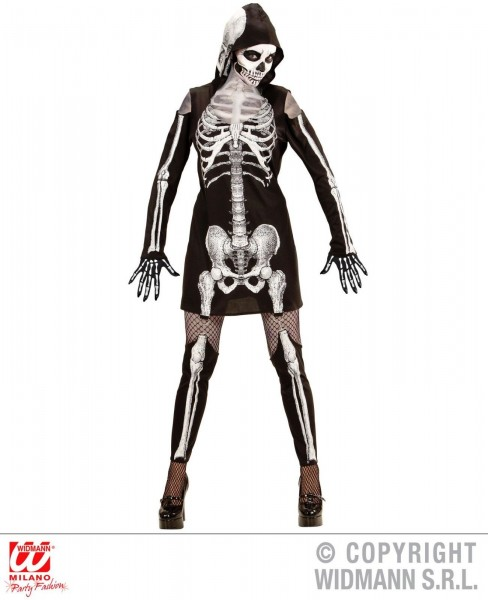 Skelettlady Kleid Kostüm