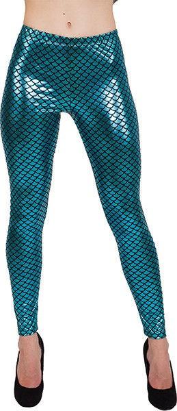 Meerjungfrau Kostüm Verkleidung Fisch Fischschuppen Leggings oder Tasche damen