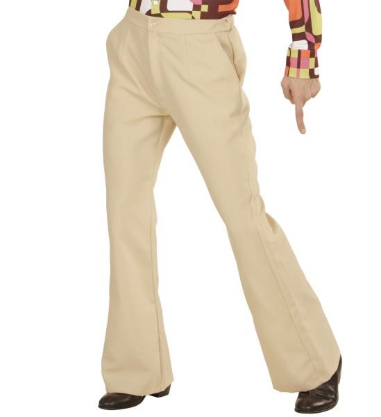 Schlaghose Herren Groovy 70s beige