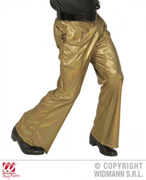 Hose in holografischem Stoff gold