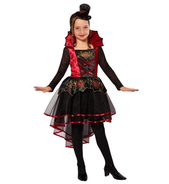 Vampir Kleid mit Minihut Kostüm