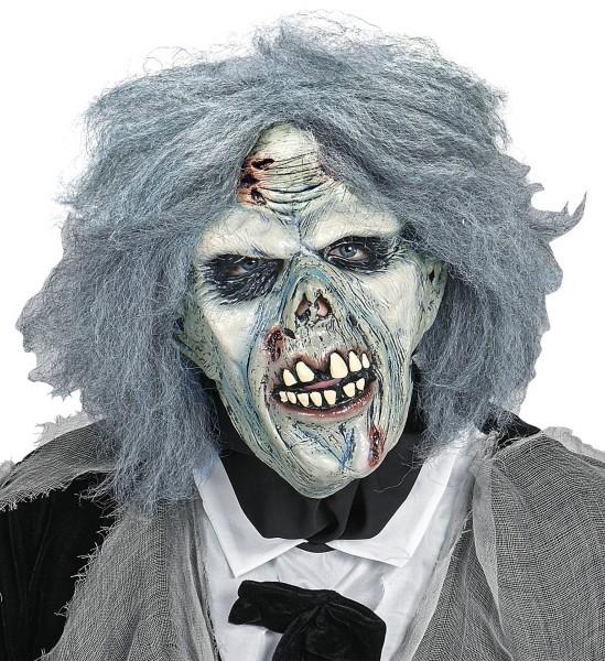 Zombiemaske mit Perücke