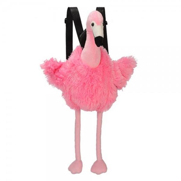 Rucksack Flamingo aus Plüsch 55cm