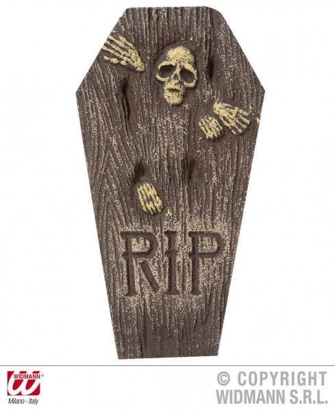 Grabstein mit Skelett 57cm