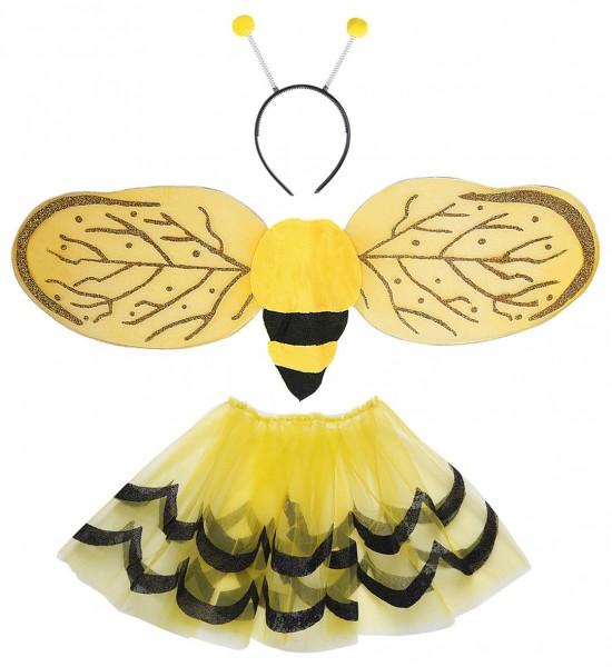 Biene Set 3-tlg. Rock, Flügel und Haarreif