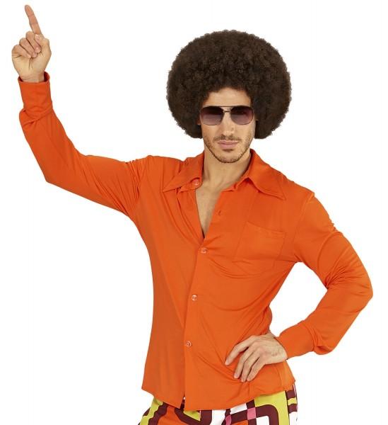 Herrenhemd Groovy 70s orange