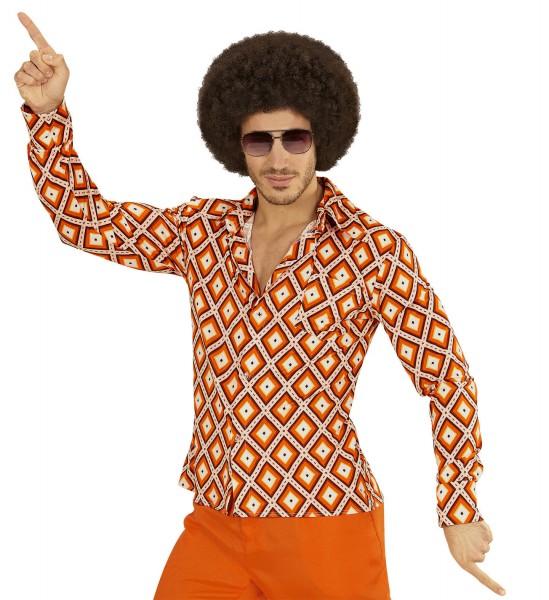 Herrenhemd Groovy 70s rhombus
