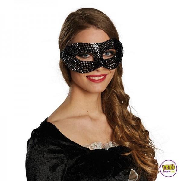 Domino Diamant schwarz 64008 Maske