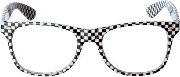 Brille schwarz-weiß kariert