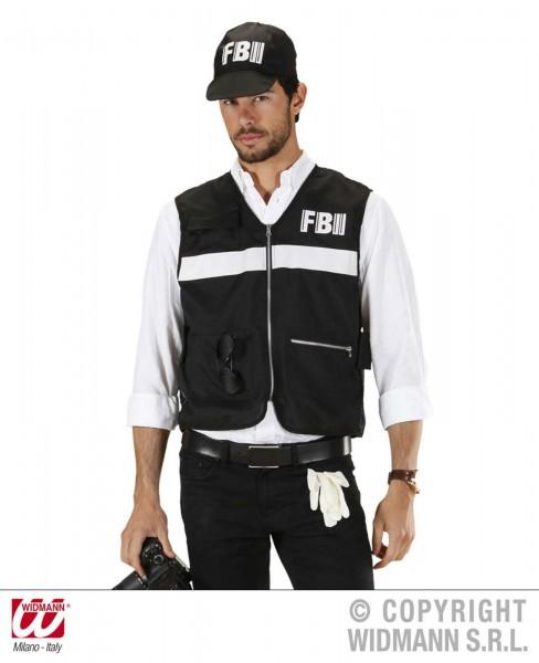 FBI Weste mit Kappe 2-tlg.