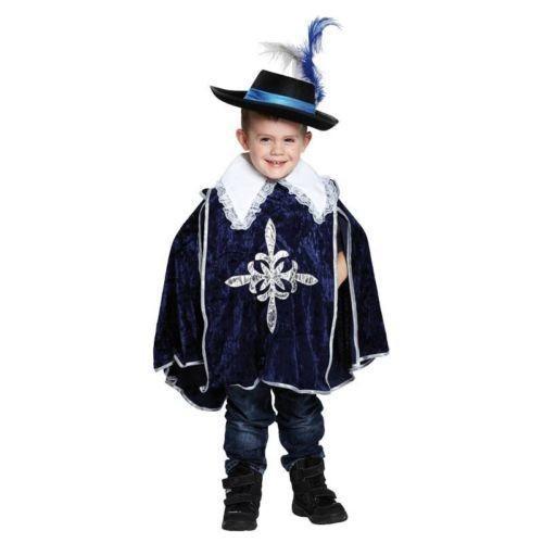 Musketier Kinderkostüm blau