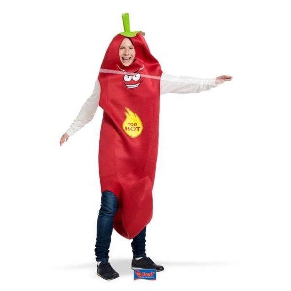 Hot Pepper Kostüm rot One Size